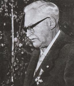 Eduard Paul Tratz. Foto aus dem Dankbillet zu dessen 80. Geburtstag - von seinem Schüler, Freund und Nachfolger Eberhard Stüber. Vergrößerung: Anklicken.